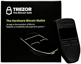 Trezor Bitcoin Wallet/Top Cryptocurrency Wallet/Easy to use and Yet as Safe as Any Other Crypto Wallet/Better Than The Ledger Nano S/Ideal for Bitcoin, Litecoin, Ethereum, etc (Black)