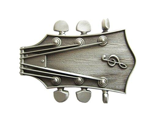 Schnalle123 Gürtelschnalle Musik Gitarre 3D Optik für Wechselgürtel Gürtel Schnalle Buckle Modell 94