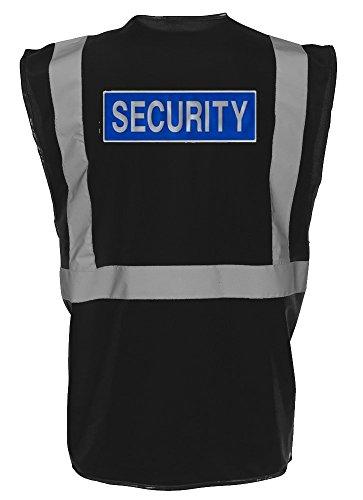 Workwear World - Gilet Riflettente con Scritta Security Nero XL