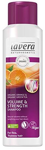 Lavera Haar Shampoo Volumen und Kraft, Bio-Orange, für feines, fliegendes Haar , vegan, Biohaarpflege, Naturkosmetik, 250ml