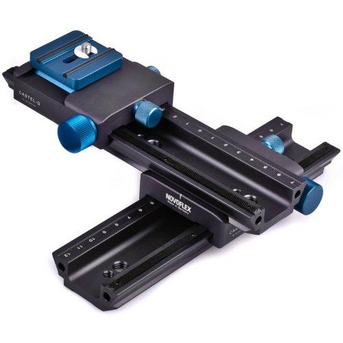 Novoflex Castel-Cross-Q Kreuz-Einstellschlitten (Kreuzschlitten, Makroschlitten, Stereoschlitten) für DSLRs und Systemkameras - Made in Germany