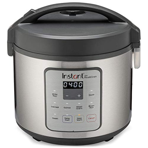 Instant Pot Zest20 Cup Rice Cooker, Steamer, Cooks Rice, Grains, Quinoa and Oatmeal, No Pressure Cooking Functionality