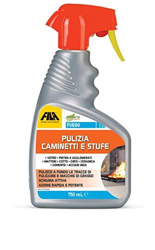 FILA Surface Care Solutions Rimuovi Fuliggine, Spray per la Pulizia del Caminetto, Stufe, Vetri, 750 ml