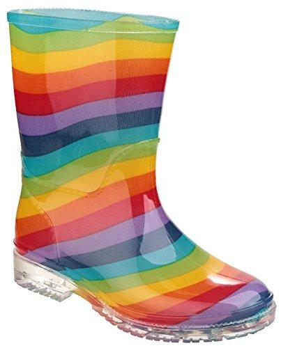 Cotswold Kinder Jungen Gummistiefel Regenstiefel Wasserdicht Stiefel Regenschuhe Regenbogen 28