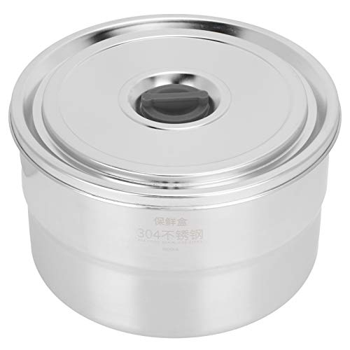Fybida Recipiente de Almacenamiento de Alimentos Aislado 304 Recipiente de Almuerzo Multifuncional de Acero(304 All-Steel Crisper: 1600ml)