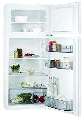 AEG SDB41211AS Einbau Kühl-Gefrier-Kombination mit Gefrierteil oben / 147 l Kühlschrank / 44 l Gefrierschrank / Flexible Ablagen / XXL-Gemüseschublade / Einbaukühlschrank (G) / H: 122,5 cm