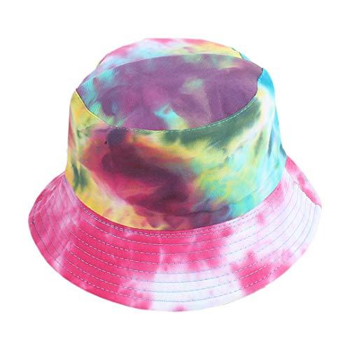 Surkat Reversible Tie Dye Bucket Hat Multicolored Fisherman Cap Packable Sun Hat for Women