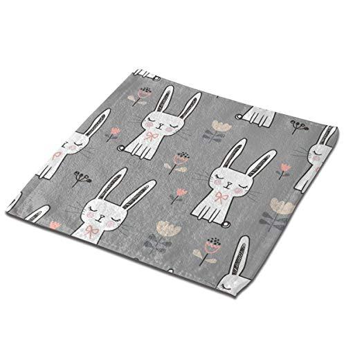 Bgejkos Juego de 3 toallas de baño para baño, hotel, spa, cocina, multiusos con punta de los dedos y paños faciales, 33 x 33 cm, conejos, conejos, de ensueño
