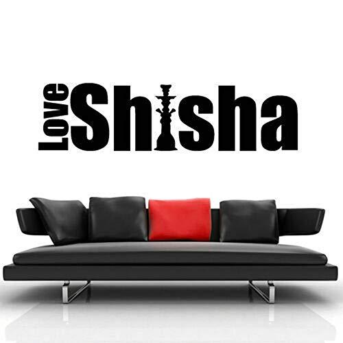 YuanMinglu Schaufenster Zeichen Wandaufkleber Wandaufkleber Shisha Shisha Freizeit Bar Schlafzimmer Applikation 156x42cm