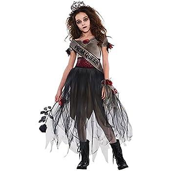 Amscan - Reina zombie, disfraz de halloween para niñas - 8-10 años ...