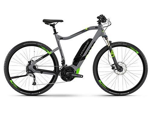 HAIBIKE Sduro Cross 4.0 Trekking Pedelec E-Bike Fahrrad grau/schwarz/grÃŒn 2019: Größe: L