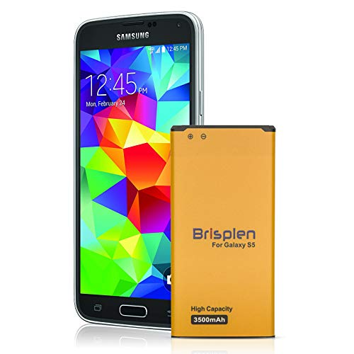 Galaxy S5 Battery, Brisplen 3500mAh Upgraded High Capacity Replacement Battery for Samsung Galaxy S5 [I9600, G900F, G900V (Verizon), G900T (T-Mobile), G900A (AT&T), G900P(Sprint)]