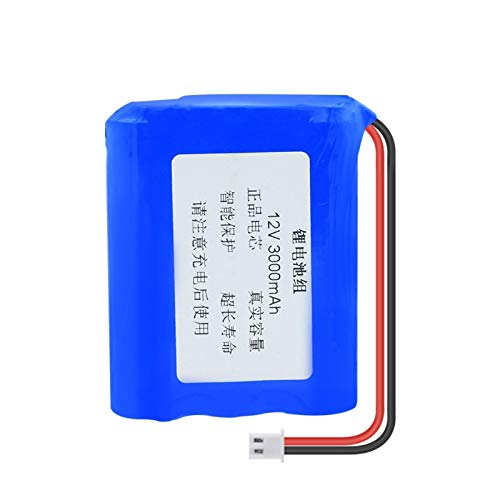 softpoint Paquete de batería de Litio de 12V 3000mAh 18650, celda de Iones de Litio con Conector XH 2.54mm 2Pin para luz de Bicicleta