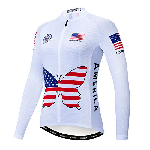 Maillot de Ciclismo para Mujer Pro Team Bike Camisa de Manga Larga...