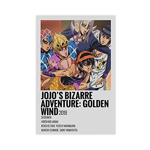 Jojo's Bizarre Adventure Golden Wind Anime Minimalist Anime 50 Toile Poster Décoration Murale Impression Peinture pour Salon Chambre à Coucher Sans Cadre 30 x 45 cm