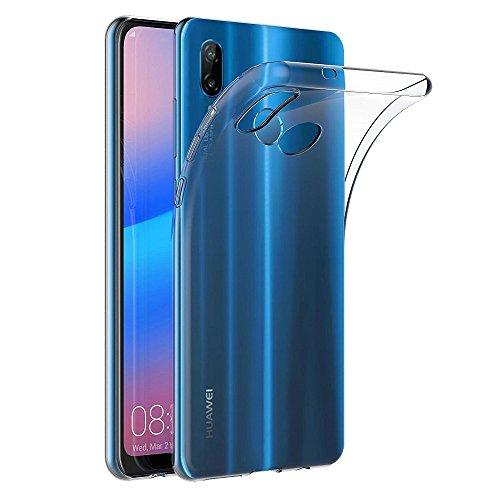 Funda Carcasa Gel Transparente para Huawei P20 Lite/Huawei Nova 3E, Ultra Fina 0,33mm, Silicona TPU de Alta Resistencia y Flexibilidad