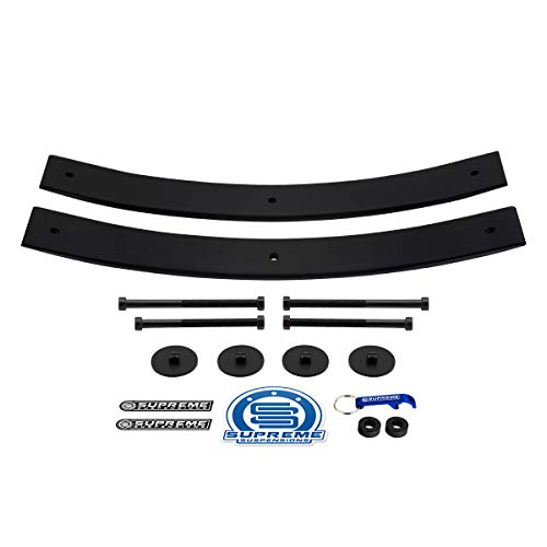 "Supreme Suspensions - Rear Leveling Kit for Chevrolet S-10 2"" Rear Add A Leaf Suspension Lift Kit 4x2 4x4 (21.5"" Short AAL)"