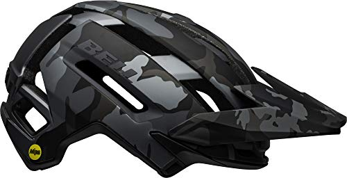 BELL Super Air MIPS, Casco da Bicicletta MTB Uomo, Opaco/Nero Lucido Mimetico, S | 52-56cm