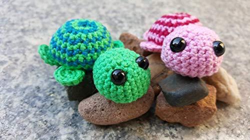 gehäkelte Schildkröten suchen neues Zuhause Schildkröte 4 Farben zur Auswahl pink grün blau gelb handgemacht Handarbeit