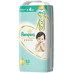 Pampers Premium Care Tapes Diapers, M, 52 count