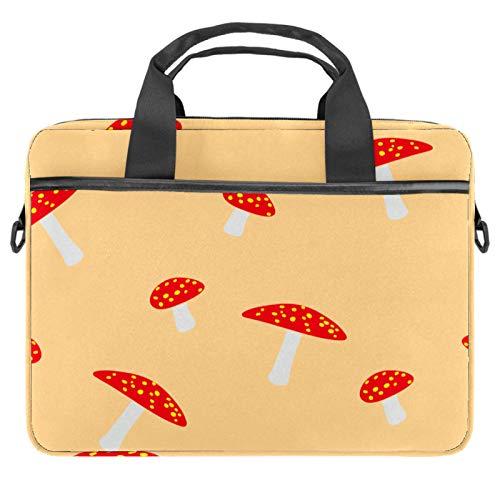 Laptop Tote Bag Computer Rucksack Compatible with Chromebook, MacBook Pro Warm Tone Mushrooms
