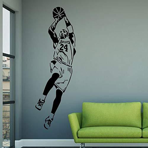 HNXDP Basketball Wandaufkleber nba berühmten Stern Wandaufkleber Home Fashion Accessoires LQ36 57x171cm
