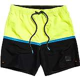 Superdry Colour Block Swim Pantaloncini, Giallo (Neon Yellow 24k), M Uomo