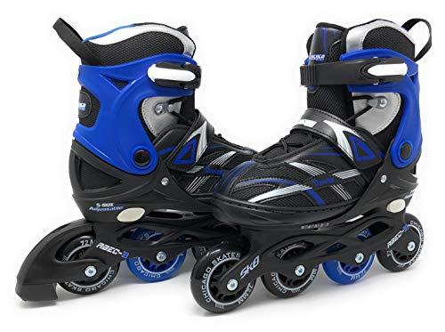 Chicago Skates Boys Adjustable Inline Skates - Medium Sizes J13-4 - Blue