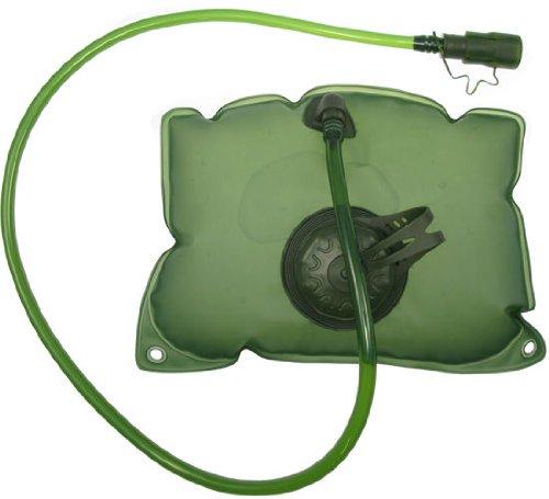 BEGADI Trinkblase mit Trinkschlauch, grün breit, Wasserblase für Rucksack Gürteltaschen und Deckeltaschen, 28x20cm, 2 Liter