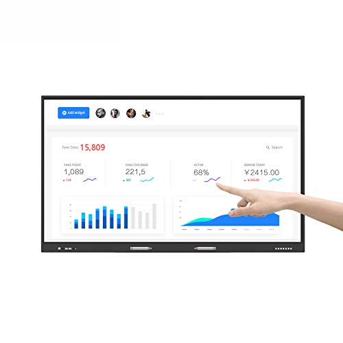 HUSHIDA 55inch Interactive Multimedia All-in-one Smart Whiteboard for Meeting and Teaching, 1080p 10-Point Multi Infrared Touch Screen Commercial Display Full HD Monitor