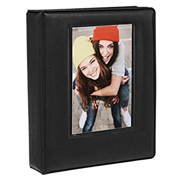 "Zink 2x3 Photo Album 64-Pocket Mini Photo Album w/ Transparent Window Cover for 2""x3"" ZINK Zero Ink Photo Paper Compatible with Kodak Lifeprint Polaroid HP Canon Fujifilm 2x3  Photos"