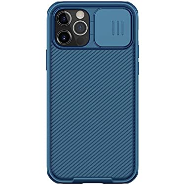 """Nillkin Case for Apple iPhone 12 / Apple iPhone 12 Pro (6.1"""" Inch) CamShield Pro Camera Close & Open Double Layered Protection TPU + PC Blue Color"""