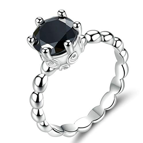 TONGS Ring Female Simple Creative Diamond Retro Ring Jewelry Holiday Gift The Perfect Gift/Silver / No7