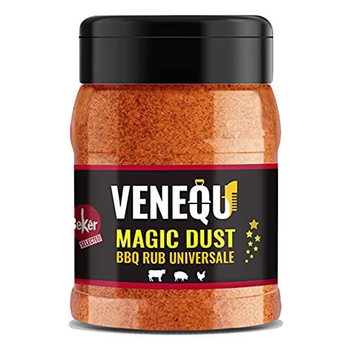VENEQU MAGIC DUST BBQ DRY RUB UNIVERSALE 150 gr   MAGIC DUST BBQ DRY RUB UNIVERSALE 150gr   Ideale per Pollo, Maiale, Manzo   100% Made in Italy