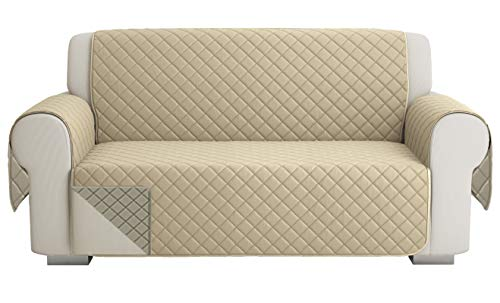 SofaüBerwurf Sofa Cover 2 Sitze (120 cm), Sofaschoner, Sofa Cover Abdeckung, Schonbezug, Sofabezug, Rutschfes, Reversible Gesteppte