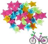 AIlysa 72 Piezas Decoración de Radio de Bicicleta, Bicicleta Decoración Perla, Rueda Bici Radios Clip, Bicicleta Habló Decoración, Colorido Decoración de Radios de Bicicleta Clip Rueda de Plastico