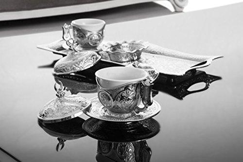 11 Teiliges Mokka Set - Silberfarben nach orientalischer Art 100000241563