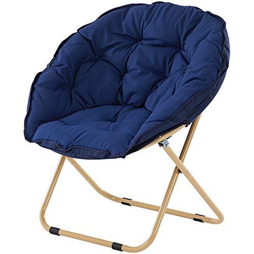 JUJIU Campingstühle Moon Chair Saucer Indoor Outdoor Lehnstuhl Unterstützt 176 Lbs Mit Folding Becherhalter und Tragetasche Dark Green