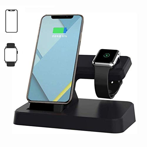FMOGE 3 in 1 Wireless Charger Station Charger Stand,for Apple Watch Charging Dock,for IWatch Series 4/3/2/1/IPhone 11/11 Pro/11 Pro Max/Xs MAX/8,Induction Chargers