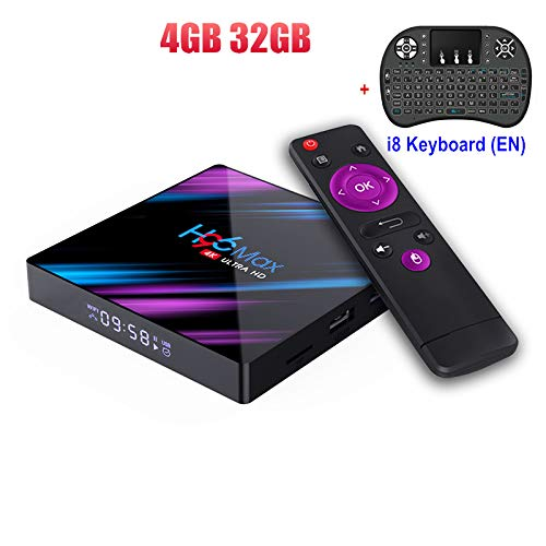 Buy H96 Max RK3318 Android 9.0 Smart Set Top Box 4GB 32GB 2.4G&5GHz Dual WiFi 4K HDR Box + with Wire...