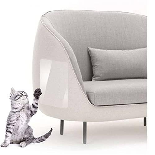Unmbo Flexibel Möbelschutz Für Katzen Anti-Kratz, Transparent Doppelseitig Katze Klebeband Selbstklebend Katzen Couch Schutz Für Schützen Sie Ihre Möbel Vor Hund Katzenkrallen-4 Stck(14 * 39cm)