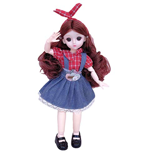 tomation 3D Doll Princess Fairytale Dress Up Doll 3D Real Eye Doll Girl With Movable Joints Rapunzel Fashion Doll Safe Durable DIY Toy Christmas Birthday Gift For Kids
