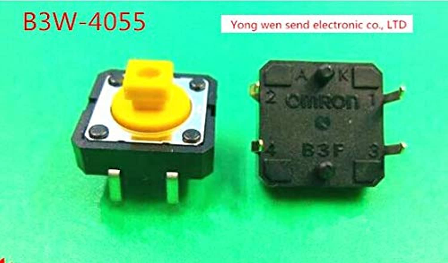 New OMRON B3W4055 B3W4055 3.43N Seal Waterproof and dustproof Micro Light Touch Switch Button Key Switch DIP4
