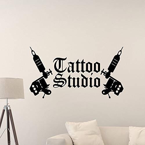 WERWN Estudio de Tatuajes Tatuajes de Pared Tienda de máquinas de Tatuajes Decoración de Interiores Diseño de Logotipos Puertas y Ventanas Pegatinas de Vinilo Estilo Fresco Papel Tapiz artístico