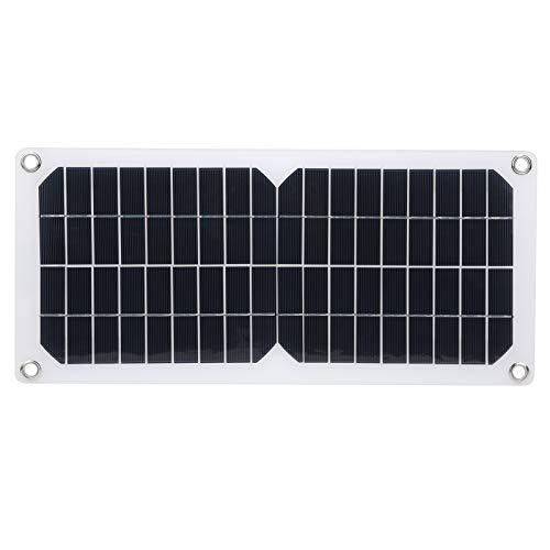 Jopwkuin Panel Solar portátil, Cargador Solar de 10 W Panel Solar Cargador de teléfono Celular Solar con Doble USB de 5 V para baterías de 12 V Carga para Mochila de Bricolaje y Uso Educativo