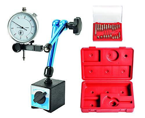 WABECO Magnet Messstativ mit Messuhr und Messeinsätzen Zentralklemmung Messstativ mit Magnetfuß Messuhrhalter