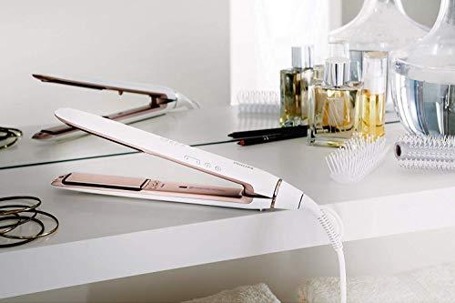 Philips HP8372/00 - Plancha profesional de pelo, con placas de alisado flotantes, función iónica, color blanco
