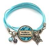 Bracelet cadeau nourrice Cadeau Nounou bracelet cabochon ble
