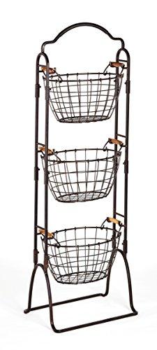 Gourmet Basics by Mikasa Harbor 3-Tier Wire Market Basket