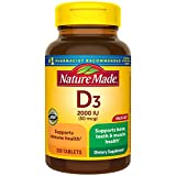 Vitamin D3, 220 Tablets, Vitamin D 2000 IU (50 mcg) Helps Support Immune Health, Strong Bones and Teeth, & Muscle Function, 250% of Daily Value for Vitamin D in One Daily Tablet